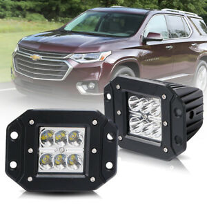 For Chevy Suv Pickup 3 Inch Off Road Spot Pods Flush Mount Led Cube Light Bar