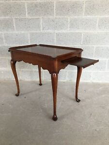 Statton Old Towne Solid Cherry Tea Table Cocktail Table Shipping Available