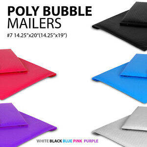 Poly Bubble Mailer 7 14 25 x20 14 25 x19 Padded Mailing Envelopes Colors