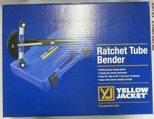 Yellow Jacket Deluxe Ratchet Tube Bender Kit W reverse Bend Mandrel 60325