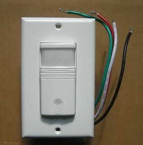 Occupancy And Vacancy Wall Motion Sensor Detector 120v 277v Switch White