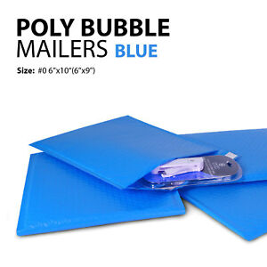 Poly Bubble Mailer 0 6 x10 6 x9 Padded Mailing Bags Envelopes Blue