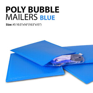 Poly Bubble Mailer 5 10 5 x16 10 5 x15 Padded Mailing Bags Envelopes Blue