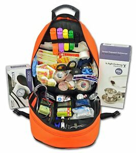 Lightning X First Responder Emt ems Backpack Stocked First Aid Supplies Kit B