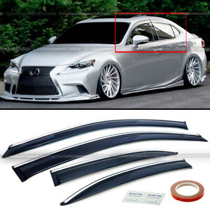 For 14 19 Lexus Is250 Is350 Is200t Jdm Chrome Trim Tinted Sun Shade Window Visor