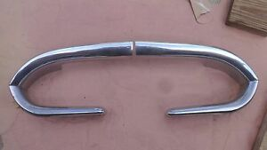 1954 Desoto Grille End Outer Surround Trim On Front Fenders Original Pair Custom