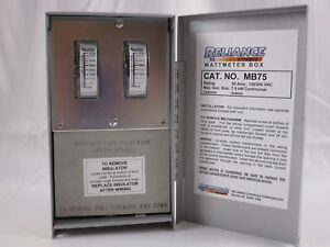 Mb75 Watt Meter Box For Generators Up To 7 500 Reliance Controls Corporation