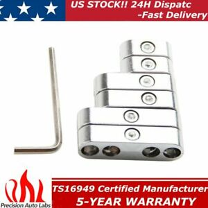 Universal Chrome Spark Plug Wire Wires Separators Holder 7 9mm Separator 6pieces