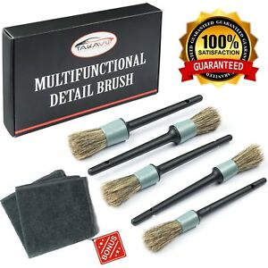Car Motorcycle Automotive Cleaning Detailing Brush Kit Auto Detailing Tools New