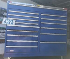 Used Stor loc Tool Box Rolling Chest 15 Drawers Like New Pickup 33870
