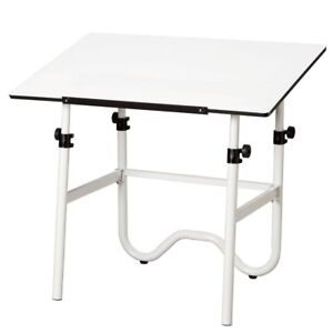 Alvin 42 Inch Onyx Adjustable Drafting Table White
