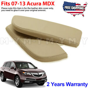 Fits 2007 2013 Acura Mdx Leather Center Console Lid Armrest Cover Skin Beige Tan