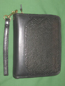 Compact 1 25 Woven Full Grain Leather Franklin Covey Quest Planner Binder 3378