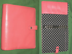 Classic 1 25 Pink Faux Leather Day Runner Planner Binder Franklin Covey 9620