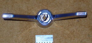 1963 65 Cadillac Steering Wheel Chrome Horn Shroud Very Nice