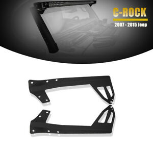 For 07 16 Jk Jeep Wrangler 50 52 steel Windshield Led Light Bar Mounting Bracket
