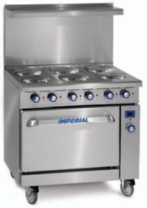 Imperial 36 6 burner Electric Range New Model Ir 6 e