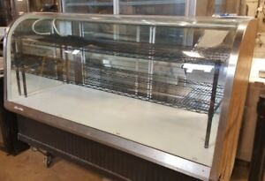 77 Curved Glass Bakery Case Euro Dry Non refrigerated Federal Ecgd 77 Used