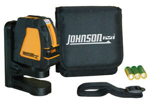 Johnson 40 6650 Two beam Self leveling Red Cross line Laser Level Kit