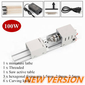 Mini Lathe Beads Polisher Machine Woodworking Craft Diy Rotary Tool 100w 12 24v
