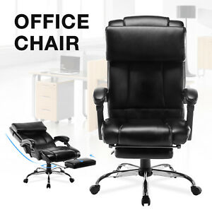 Executive Reclining Office Chair High Back Ergonomic Armchair W footrest