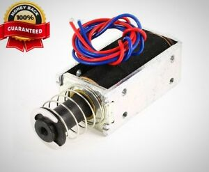 Uxcell Dc 24v 0 3a 20 Mm 3 5 Lb Push Pull Type Tubular Solenoid Electromagnet