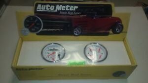Autometer 1309 3 3 8 Inch Quad Gauge Set Artic White With Senders Street Hot Rod
