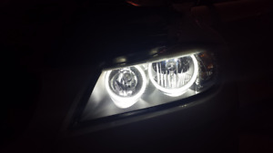 Lux Bmw E90 Lci Halogen V3 Led Cree Angel Eyes