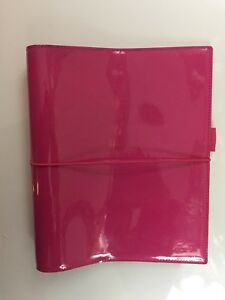 New Filofax Domino A5 Planner Binder Organizer Date Book 2016 Hot Pink Patent