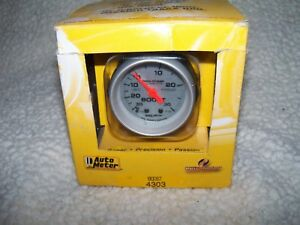 Autometer 4303 Ultra Lite Mechanical Boost Vacuum Gauge Free Shipping