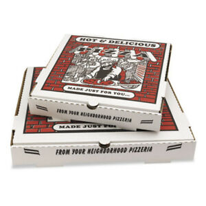 Pizza Box Takeout Containers 12in Pizza White 12w X 12d X 1 3 4h 50 bundle