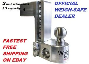 Ws10 3 Weigh Safe Trailer Hitch Ball Mount Official Dealer 21k 3 Wide Shank
