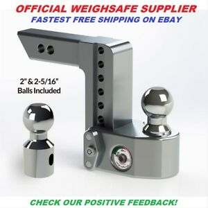 Ws8 2 Weigh Safe Trailer Hitch Ball Mount Official Dealer 10k 8 Inch Drop