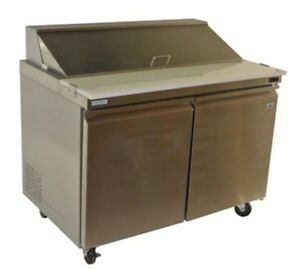 Alamo 36 Chef Line 2 Door Sandwich Salad Prep Table Refrigerated Xslc2 36 e