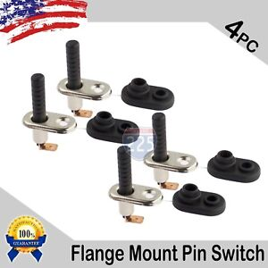 4x Universal Car Truck Boat Door Jamb Dome Light Hood Flange Mount Pin Switch Us