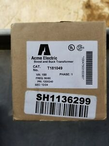 Acme Electric Transformer T181049 Nib