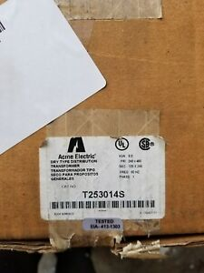 Acme Electric Transformer T253014s Nib Local Pick Up Only