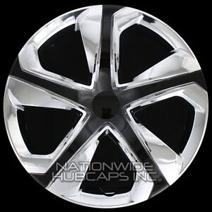 15 Set Of 4 Chrome Black Wheel Covers Snap On Hub Caps Fit R15 Tire