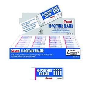 Pentel Hi polymer Block Eraser Small Box Of 48 Erasers zeh 05