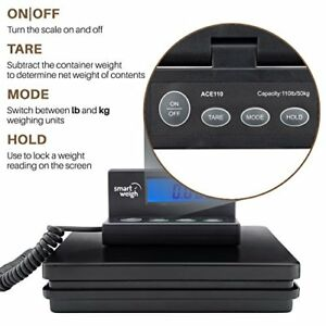 Digital Shipping postal Weight Scale 110lbs X 0 1oz Ups Usps Post Office Scale