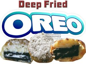 Deep Fried Oreo Vinyl Decal choose Size Concession Stand Boardwalk