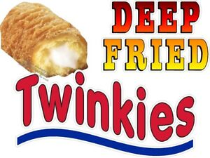 Deep Fried Twinkies Vinyl Decal choose Size Concession Stand Boardwalk
