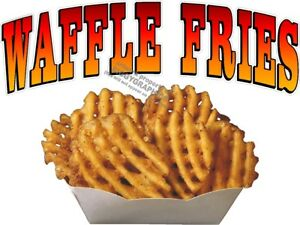 Waffle Fries Vinyl Decal choose Size Concession Stand Boardwalk