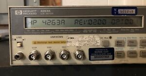 Hp 4263a Lcr Lcz Impedance Meter Precision Component Analyzer 2 Available