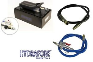 Air Hydraulic Foot Pump With Hose And Coupler 10000 Psi B 70bq 32