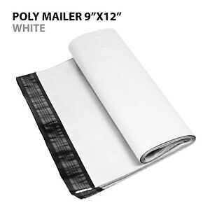 50 9x12 Poly Mailer Shipping Mailing Bag Envelopes Polybag Polymailer White