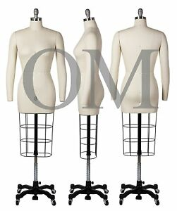 Professional Female Mannequin Dress Form W heavy Base Arms Size 8 ncs 8 2