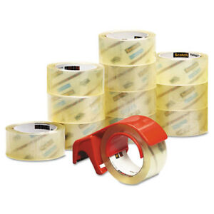 Scotch 3750 Commercial Performance Packaging Tape 1 88 x54 6yds Clear 12pk