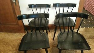 Paul Mccobb Mid Century Modern Black Planner Group Dining Chairs Set Of 4