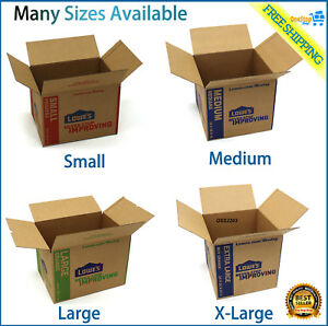 Cardboard Boxes Moving Shipping Packing Storage Mail Multiple Sizes Pack Lot